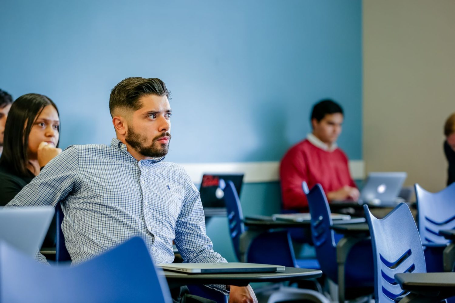 graduate student in classroom