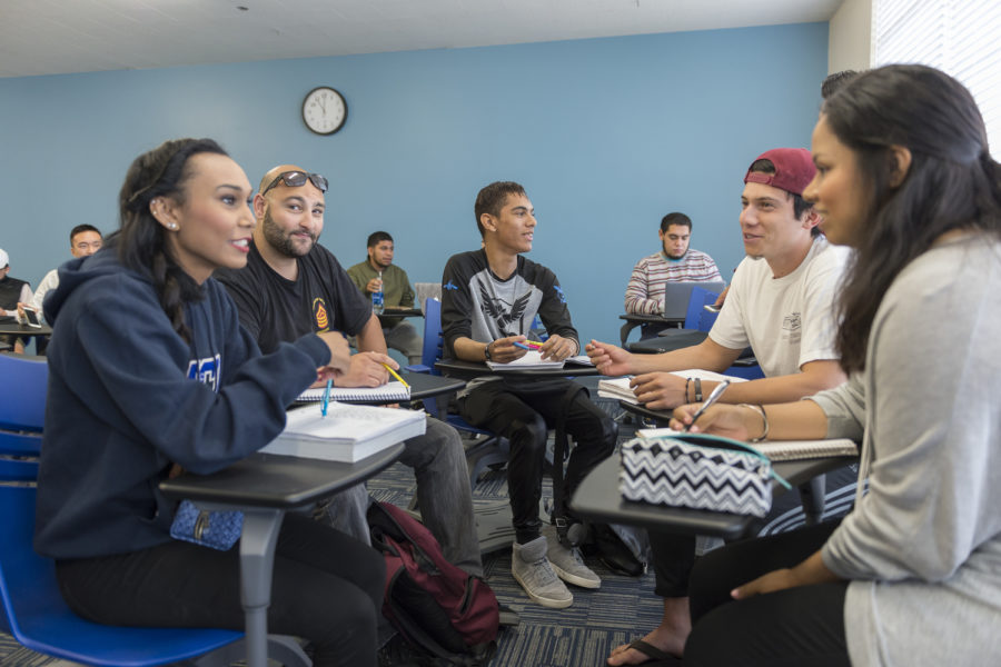 students in working in a small group