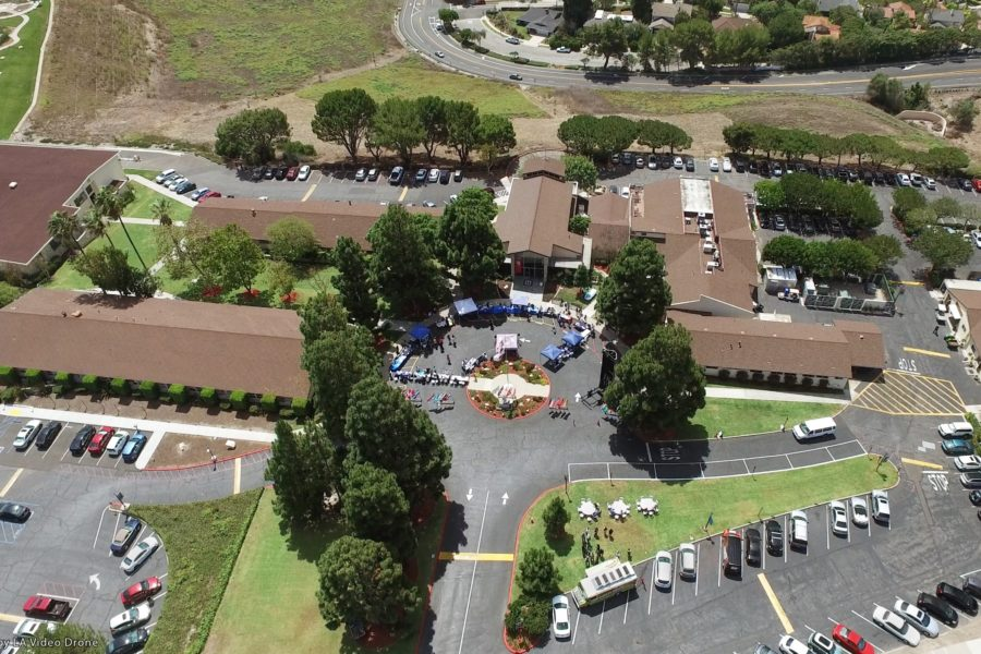 Arial view of oceanview campus