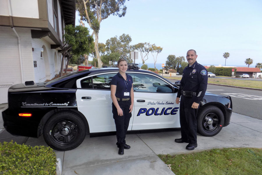 Student intern at the Palos Verdes Police Department