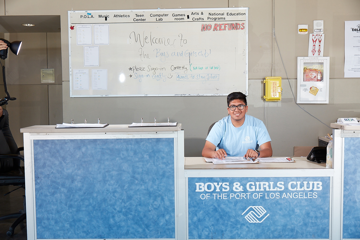 Student Intern at the Boys and Girls Club of the Port of Los Angeles