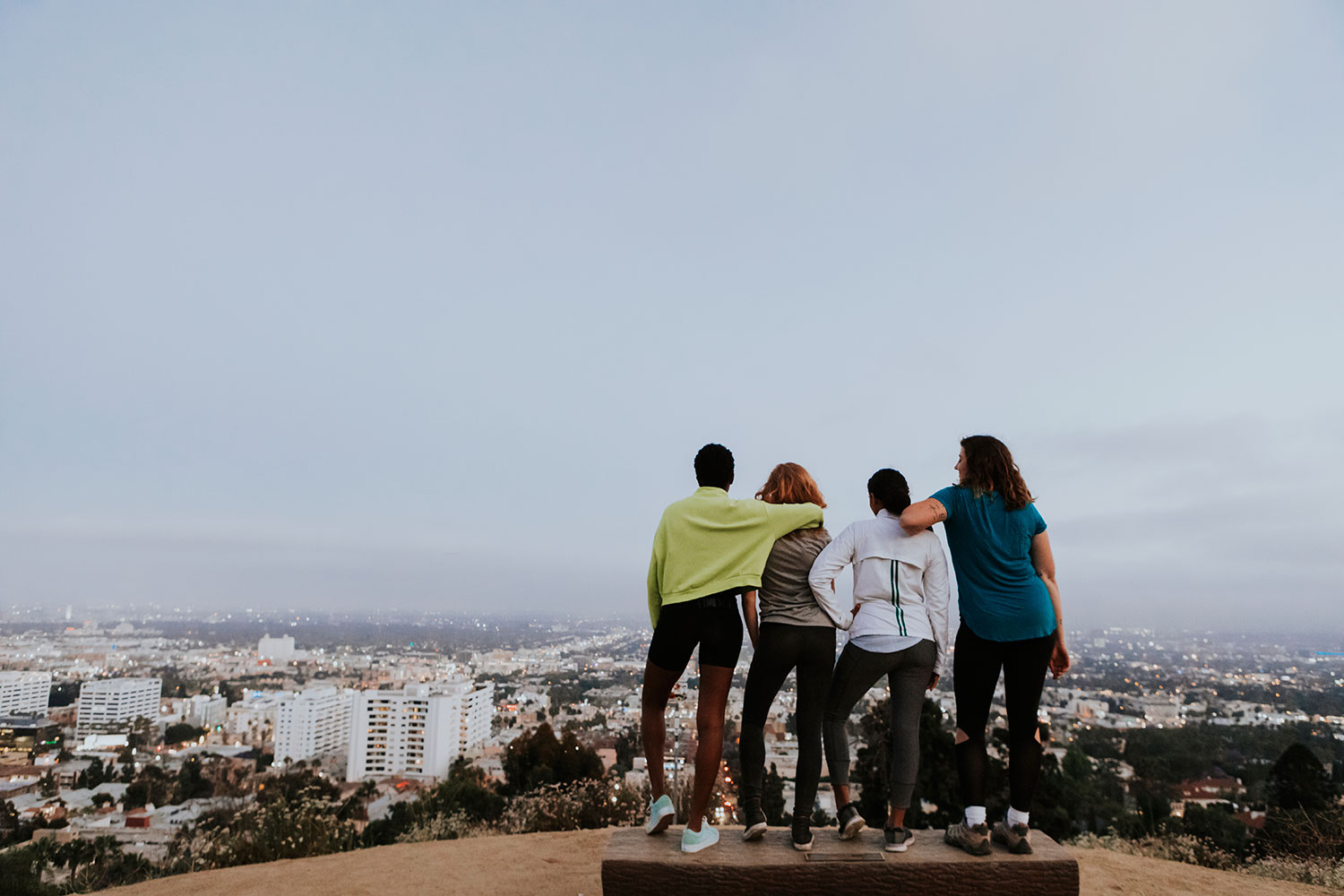 students looking at Los Angeles