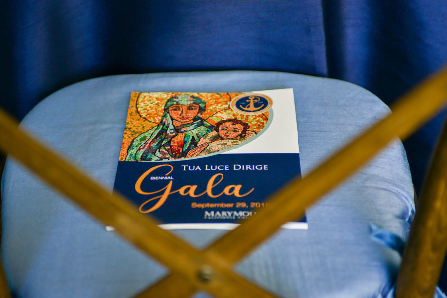 Gala event booklet on chair