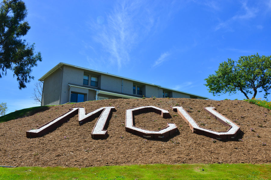 MCU letters on hillside at The Villas