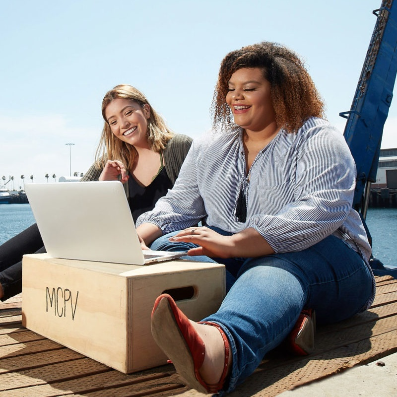 students studying on docks