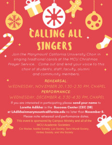 Christmas Choir Information