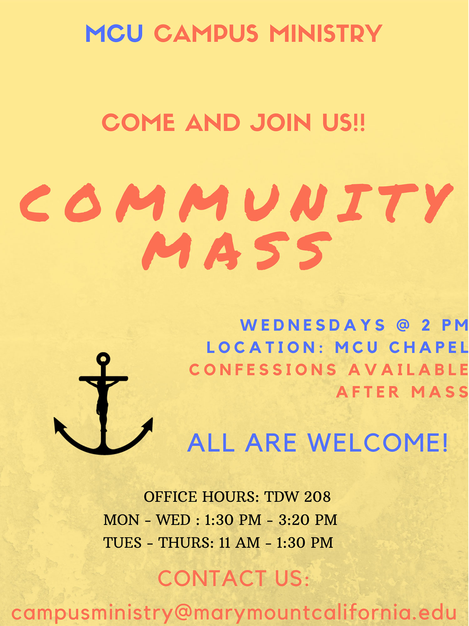 Community Mass flyer