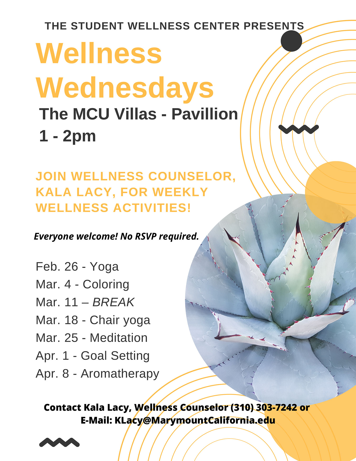 Wellness Wednesdays poster