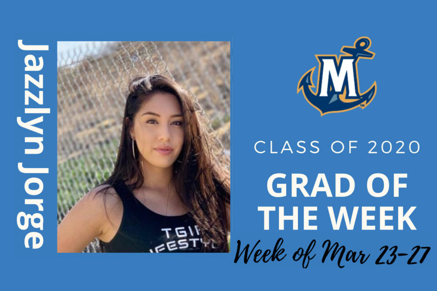 MCU Grad of the week Jazzlyn Jorge