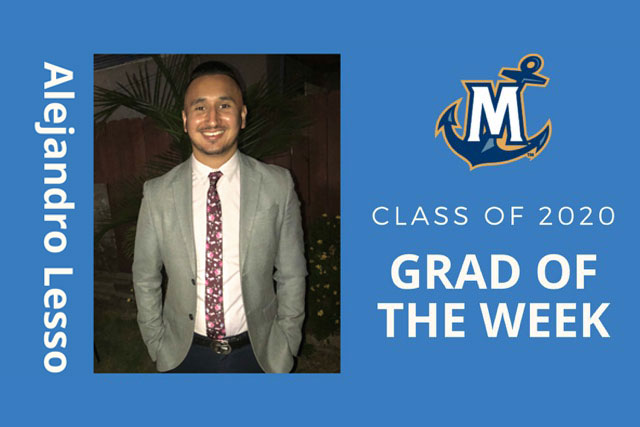 MCU Grad of the week, Alejandro Lesso
