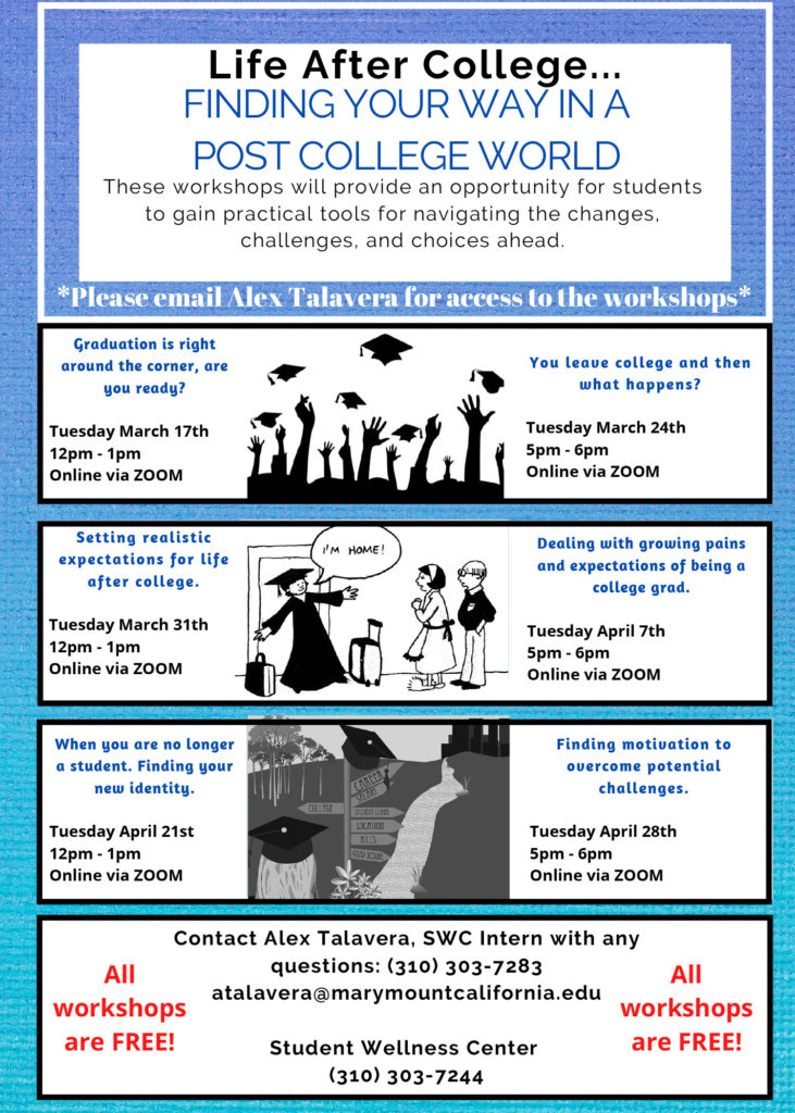 Life after college workshops poster