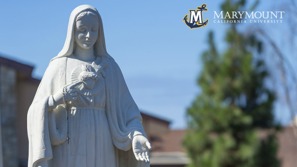 Zoom Background - Mary statue