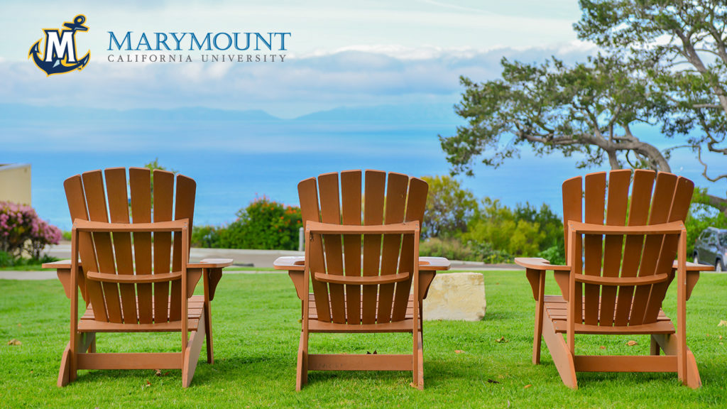 Zoom Background - Adirondack chairs