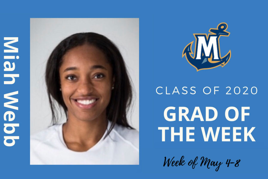 Miah Webb, MCU Grad of the week