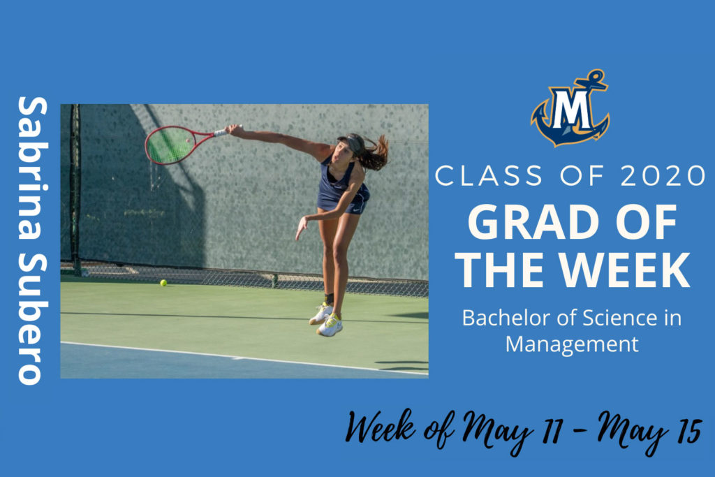 MCU Grad of the week Sabrina Subero