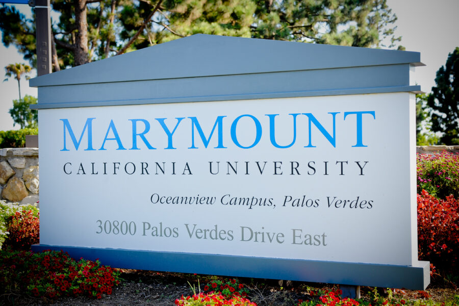 Marymount California University Welcome Sign