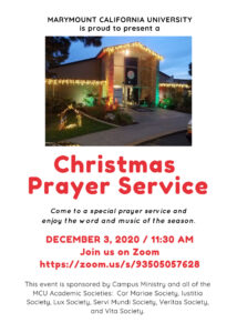 Christmas Prayer Service 2020 Flyer