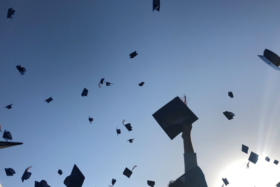 graduation cap toss