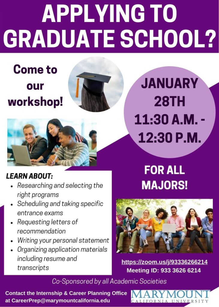 graduate school workshop poster