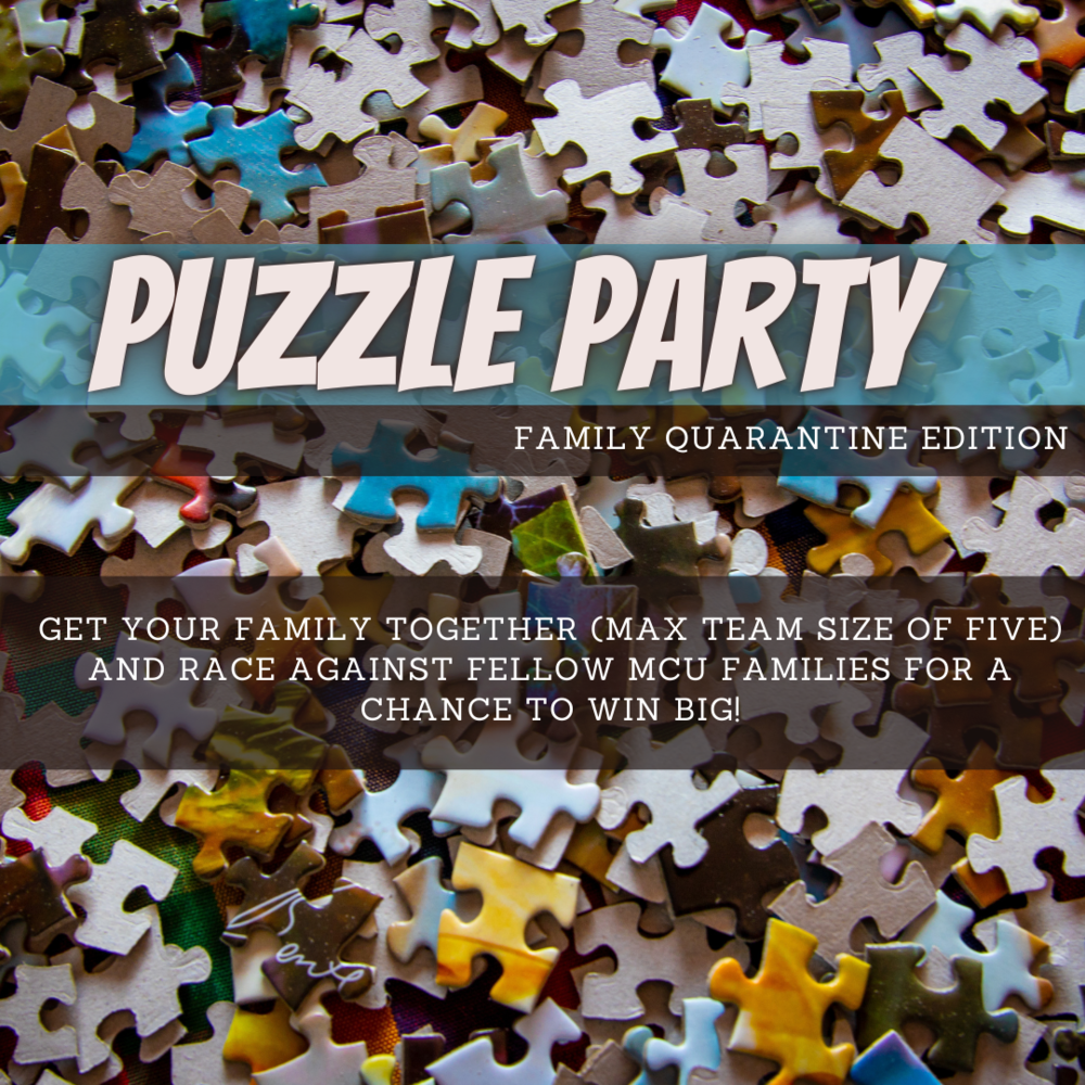 Puzzle Party event poster
