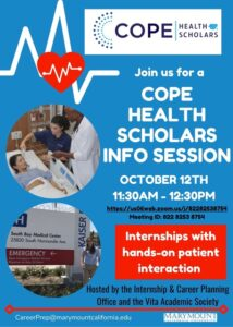 Cope Health Scholars Info Session Poster