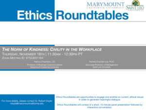 Ethics roundtable poster